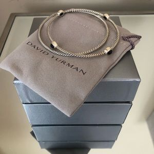 David Yurman Jewelry - NWT David Yurman Classic Onyx Bracelet Set